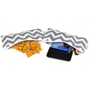 Snack Bag Mini (2ks) C.Grey Chevron